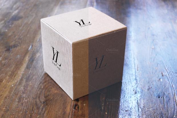High Resolution Cardboard Box Mockup