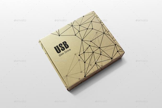 brown cardboard box mockup