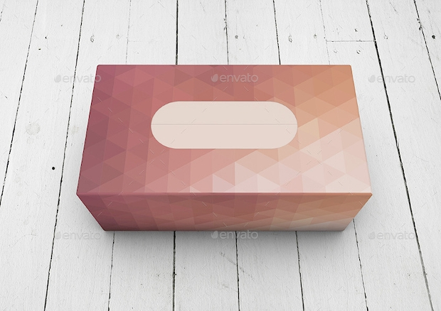 tissue box paper cardboard box mockup