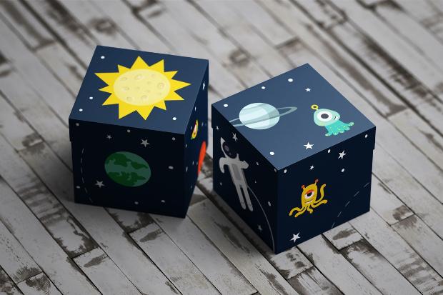 square cardboard box mockup