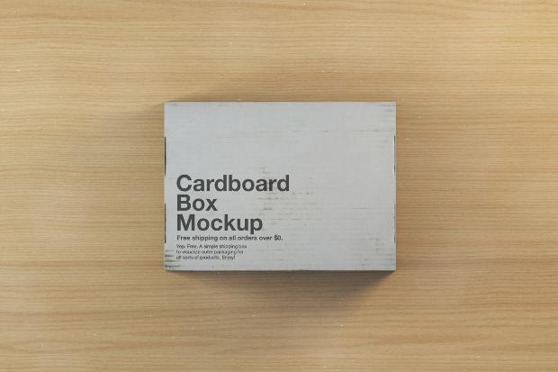 shipping box mockup