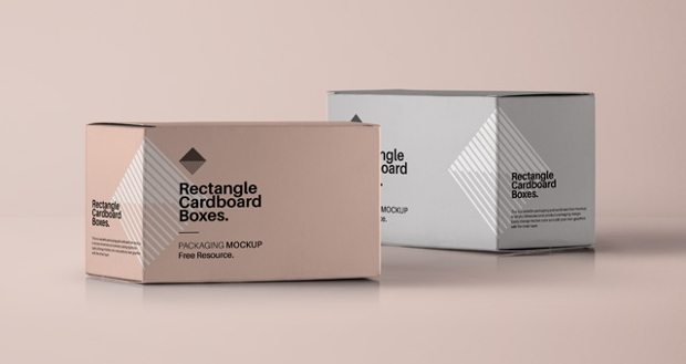 rectangle psd cardboard box mockup