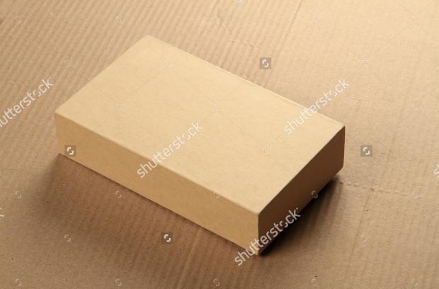 recycle cardboard box mockup