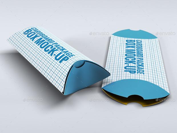 cardboard package box mockup