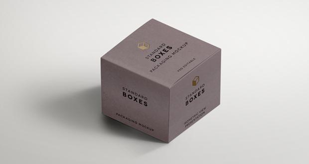 standard packaging box mockup