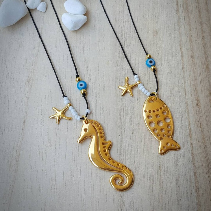 Fish and seahorse Pendant