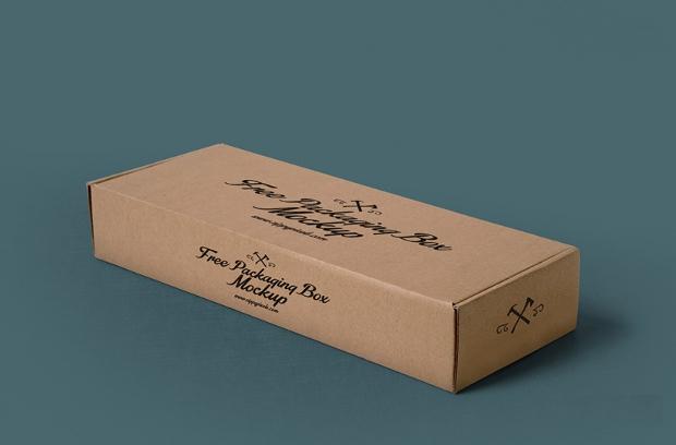 free packaging cardboard box mockup