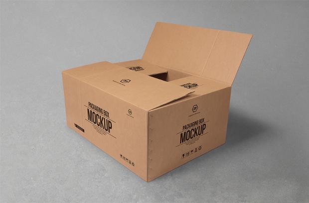 cardboard box mockup for packaging design