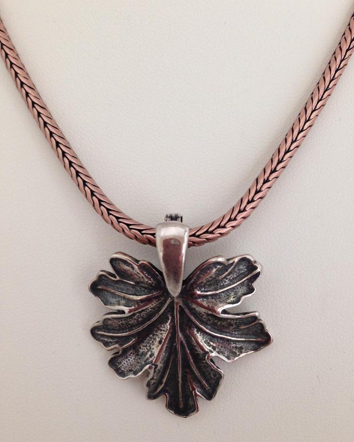 Copper Leaf Pendant Design