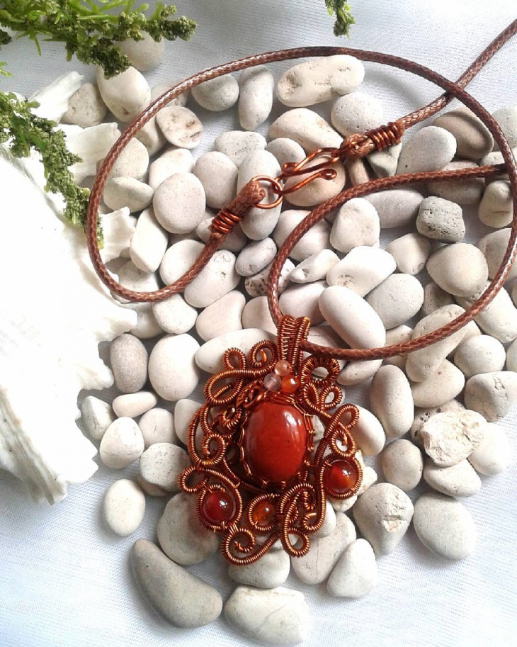 wire wrap pendant pattern