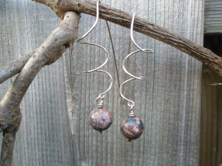 plated wire earrings idea