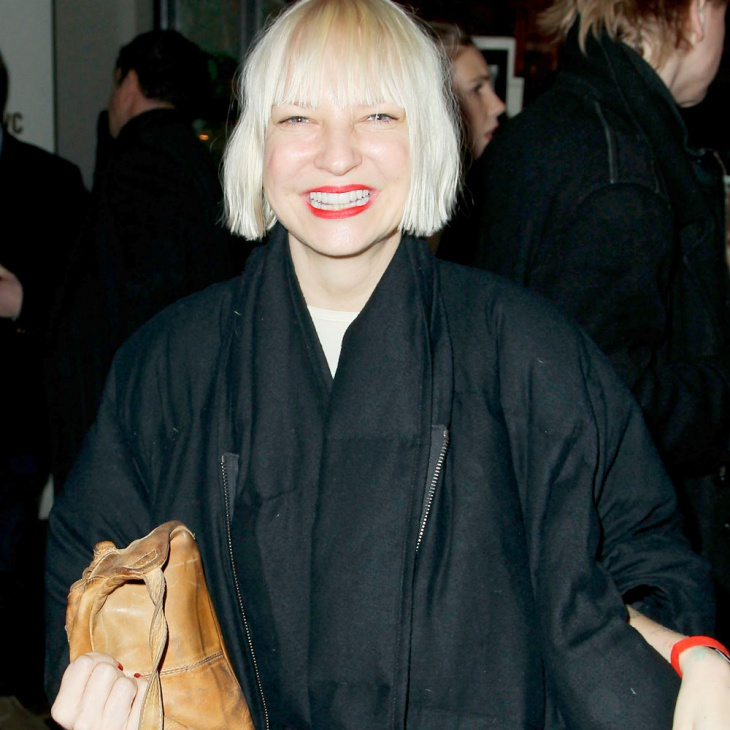 Sia Blonde Bowl Hairstyle