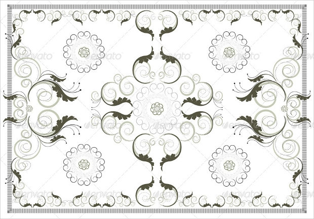 vintage carpet pattern design