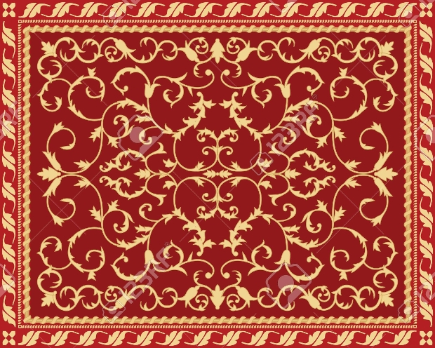 classic red carpet pattern