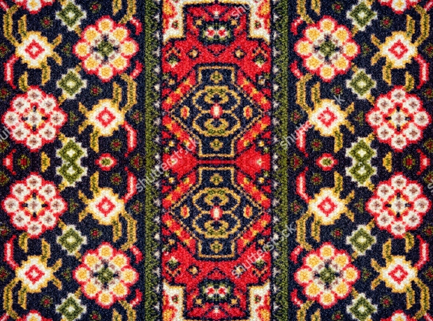 Floral and Geometric Carpet Pattern