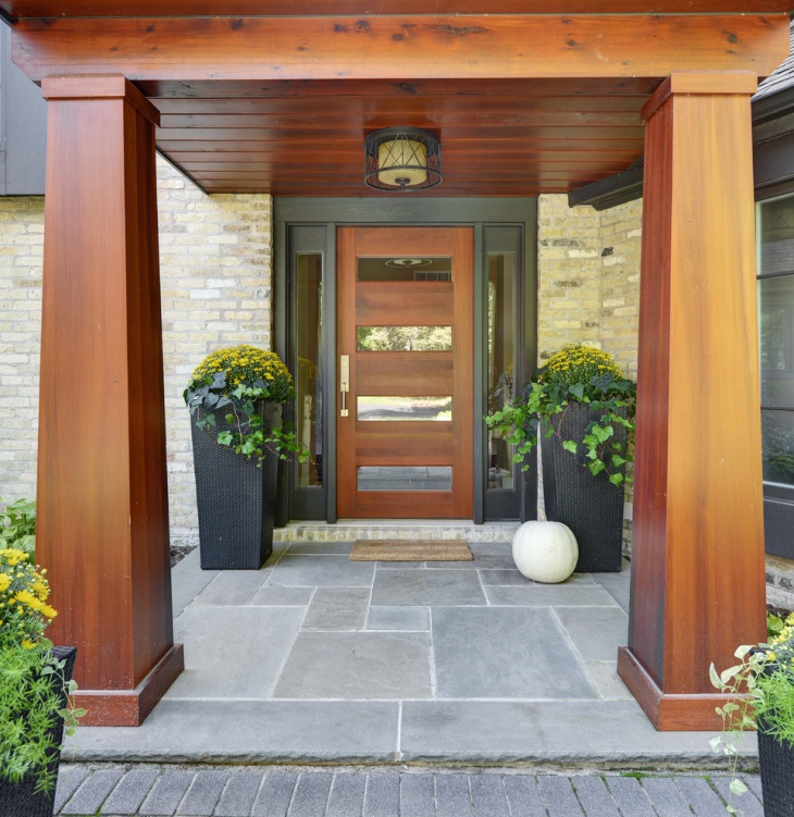Modern Solid Wood Front Door