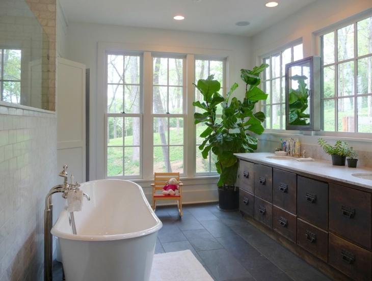 Slate Effect Laminate Bathroom Flooring