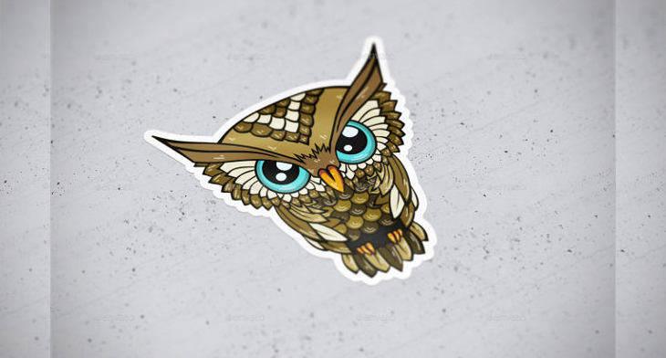 PSD Sticker Mockup Designs