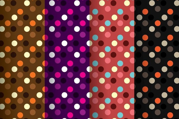 Dark Polka Dot Patterns