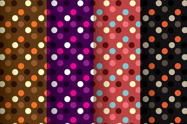 dark polka dot patterns