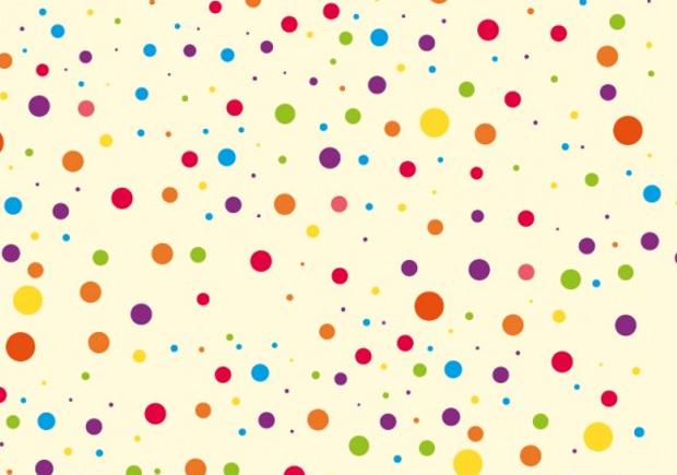 colorful polka dot pattern set