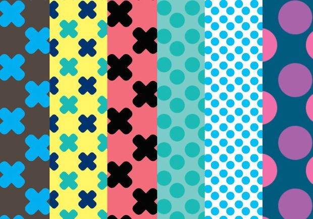 dots and crosses pattern