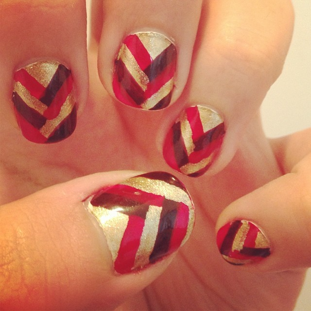 half braided nail art