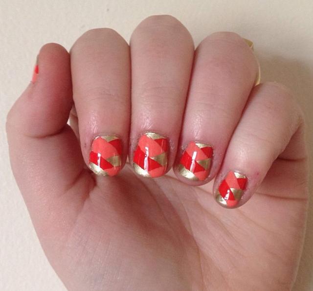 Dazzling Braid Nail Design