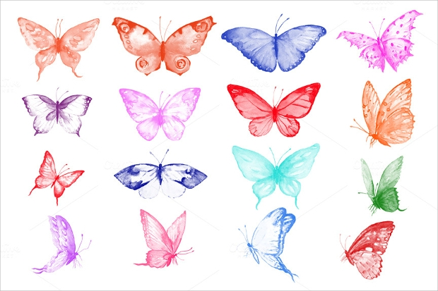 Watercolor Photoshop Butterfly Brushes