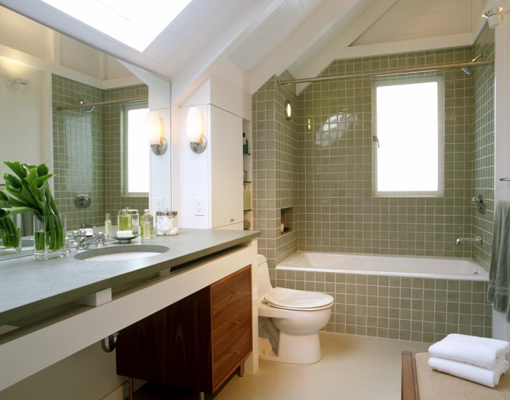 Simple Alcove Bathtub Idea