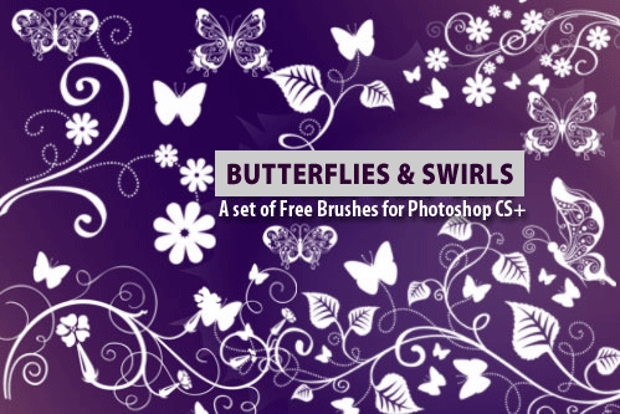 Butterfly Swirl Brushes