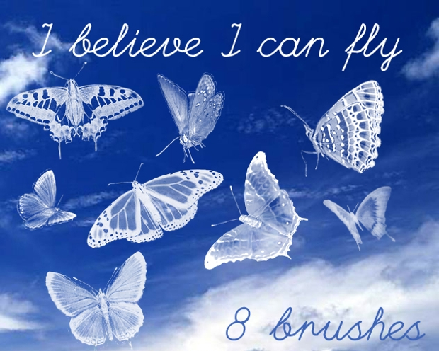 PSD Butterfly Photoshop Brushes