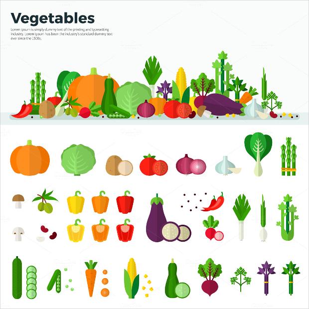 vegetables healthy food brochure