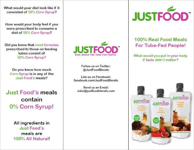 just food nutrition brochure