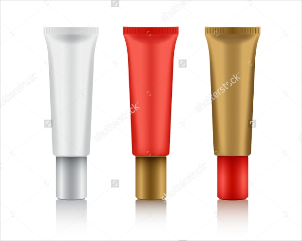 cosmetic packaging tube mockup