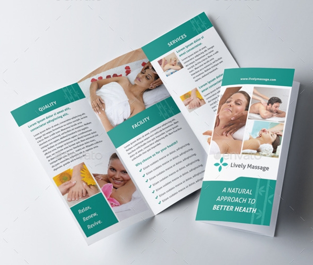 18 massage brochures free psd ai indesign vector eps for Massage brochure template