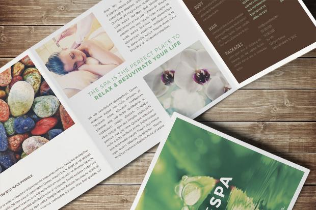 Spa Trifold Square Brochure