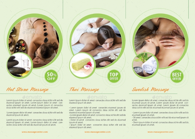 Attractive Massage And Spa Center Brochures