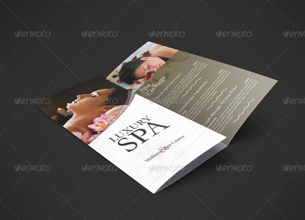 Spa and Wellness Trifold Template