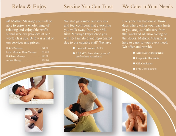 18 Massage Brochures Free Psd Ai Indesign Vector Eps Format