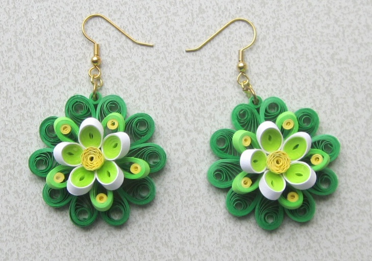Quilling Flower Earrings