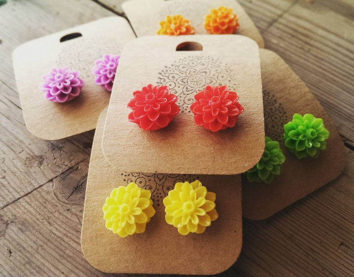 Diy Flower Earrings Design