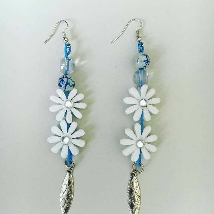 daisy flower earrings design - Earring Design Ideas