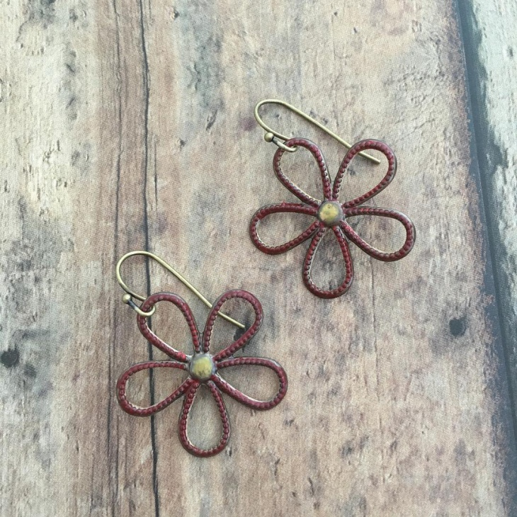 Metal Flower Earrings Idea