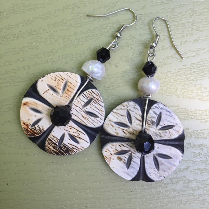 Handcrafted Flower Earrings Idea
