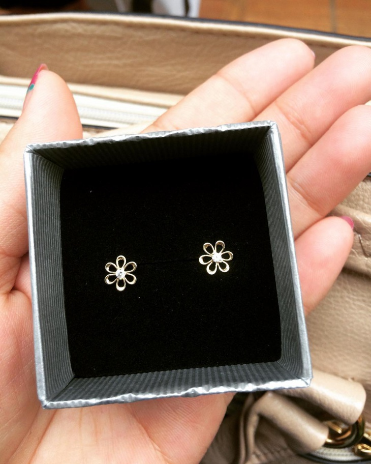 Cute Gold Flower Studs