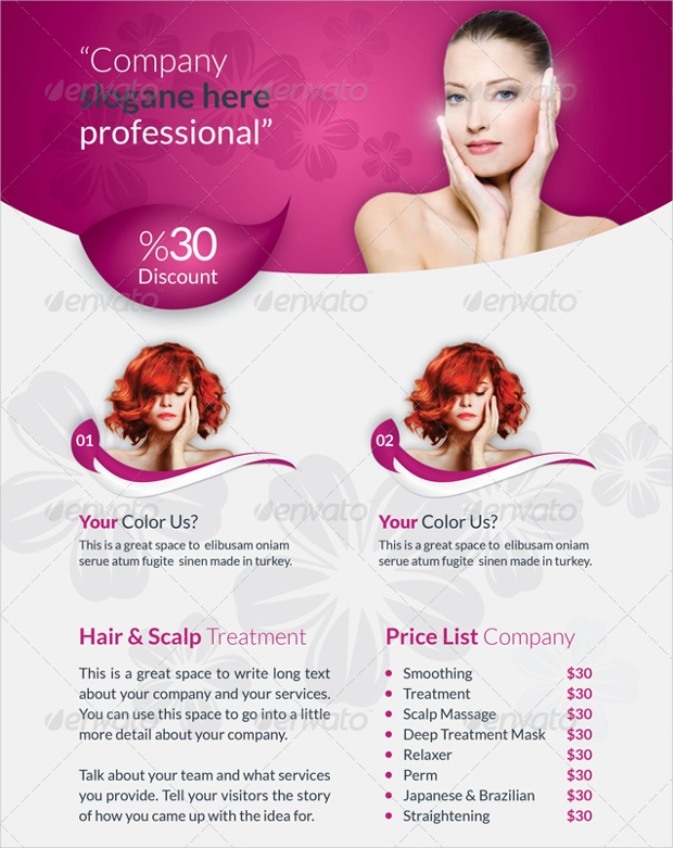Vector Beauty Saloon Brochure