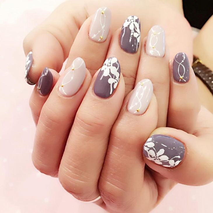 Acrylic Lily Nail Design Idea