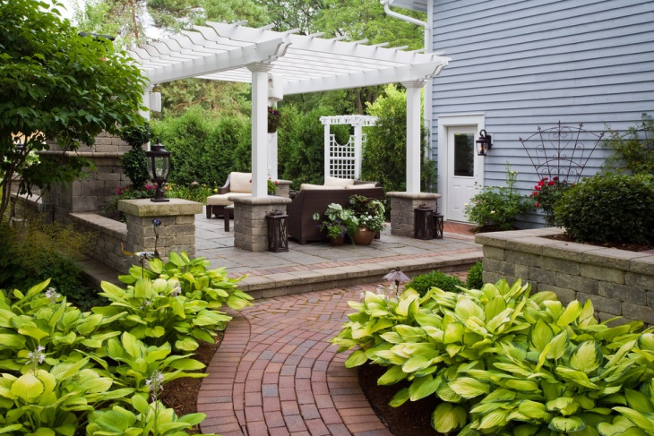 patio clay brick pavers