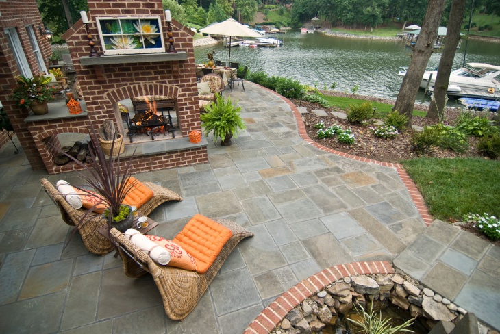 fantastic look brick patio design